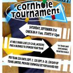 Cornhole Tourney! Teams of 2. 64 team limit! Sat Sept 21 11AM Check in Games start at Noon FEE: $20 (until Sept. 7), $25 (Sept. 8-20), $30 (Day-Of). Provide cornhole set for waived fee! For more information, please call the ACRA office at 209-223-6349